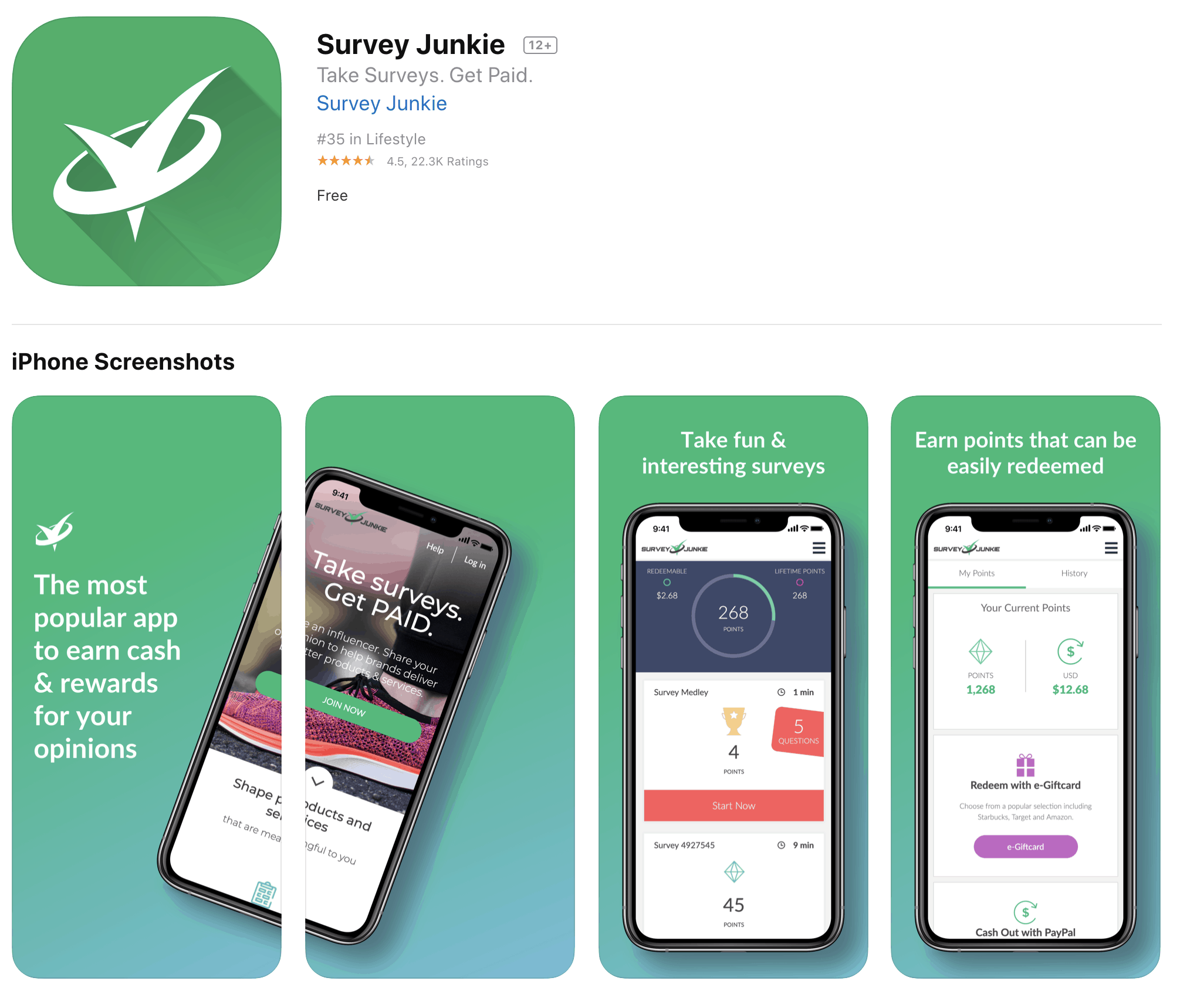 Survey Junkie on the app store