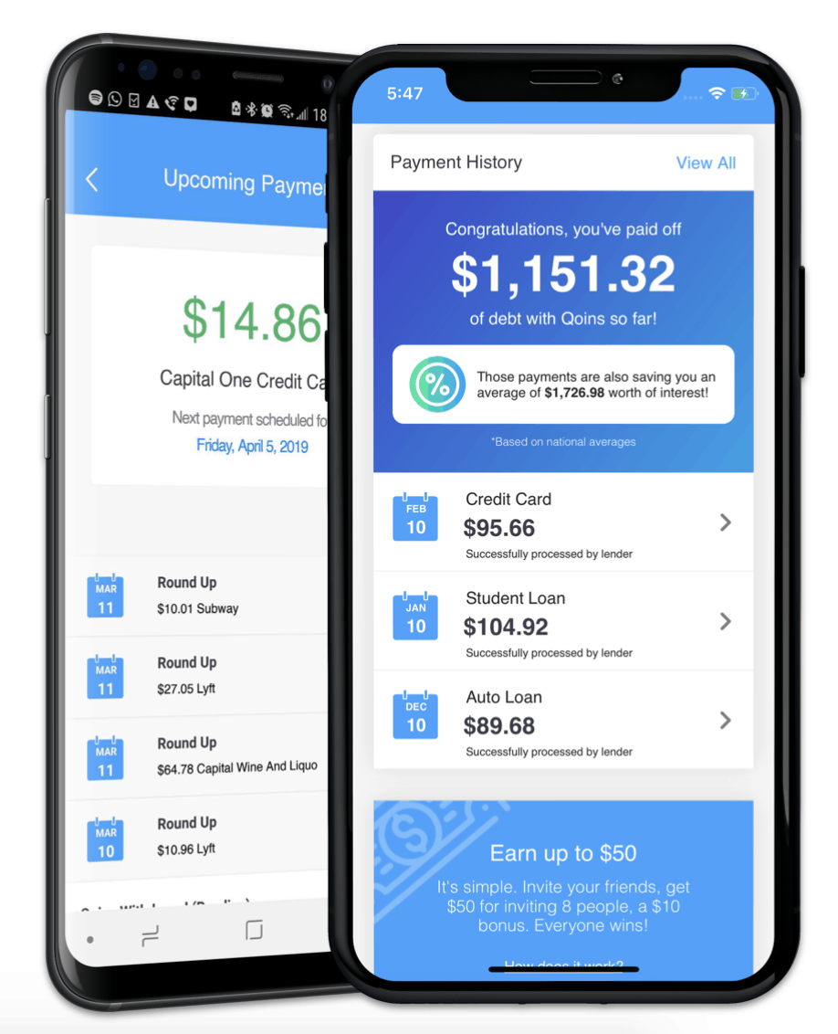 Qoins App — Pay off your debt with spare change