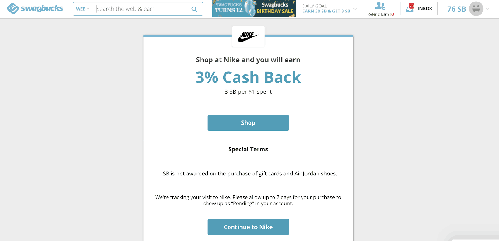 Swagbucks Nike Activate