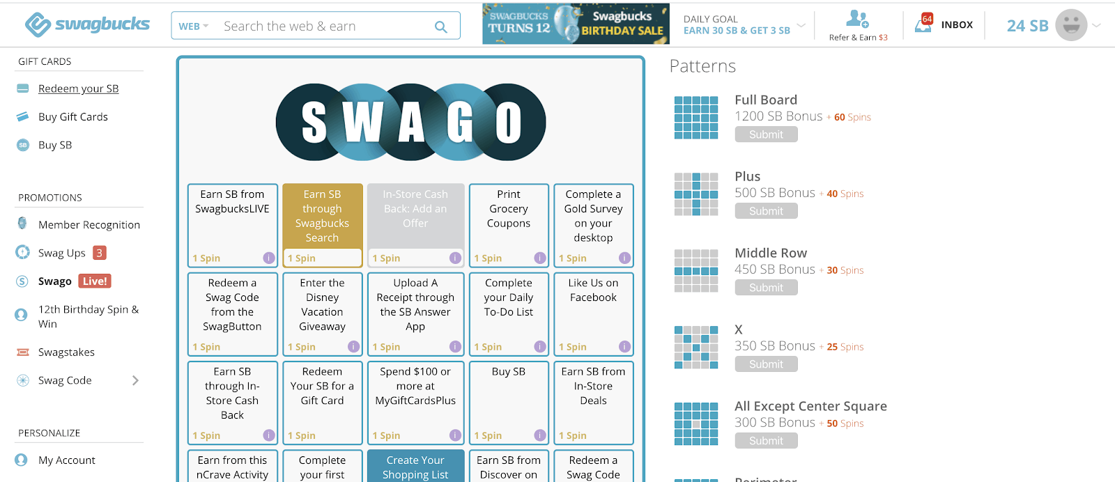 Swagbucks Swago Card