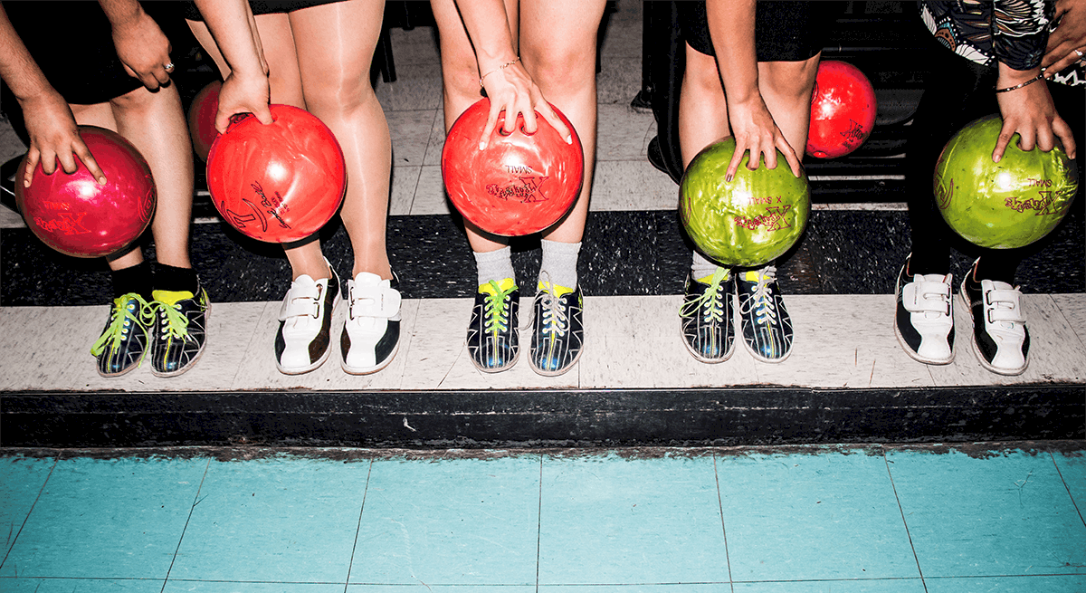 A group of friends goes bowling