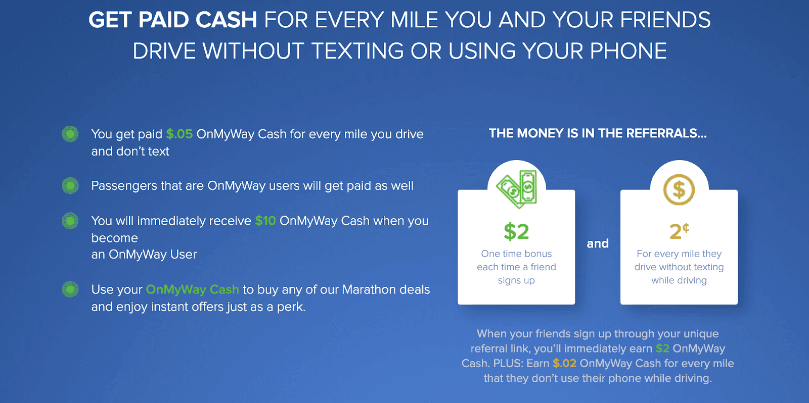 OnMyWay App Does Not Pay Cash