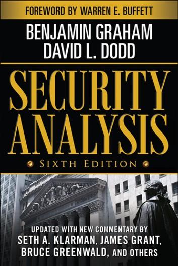 Benjamin Graham and David Dodd Security Analysis