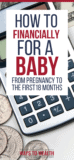 Pinterest: How to prepare financially for a baby