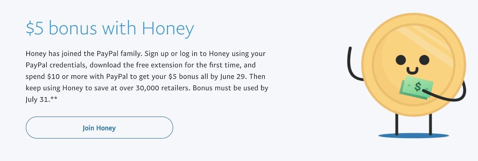 Honey - PayPal Bonus Offer