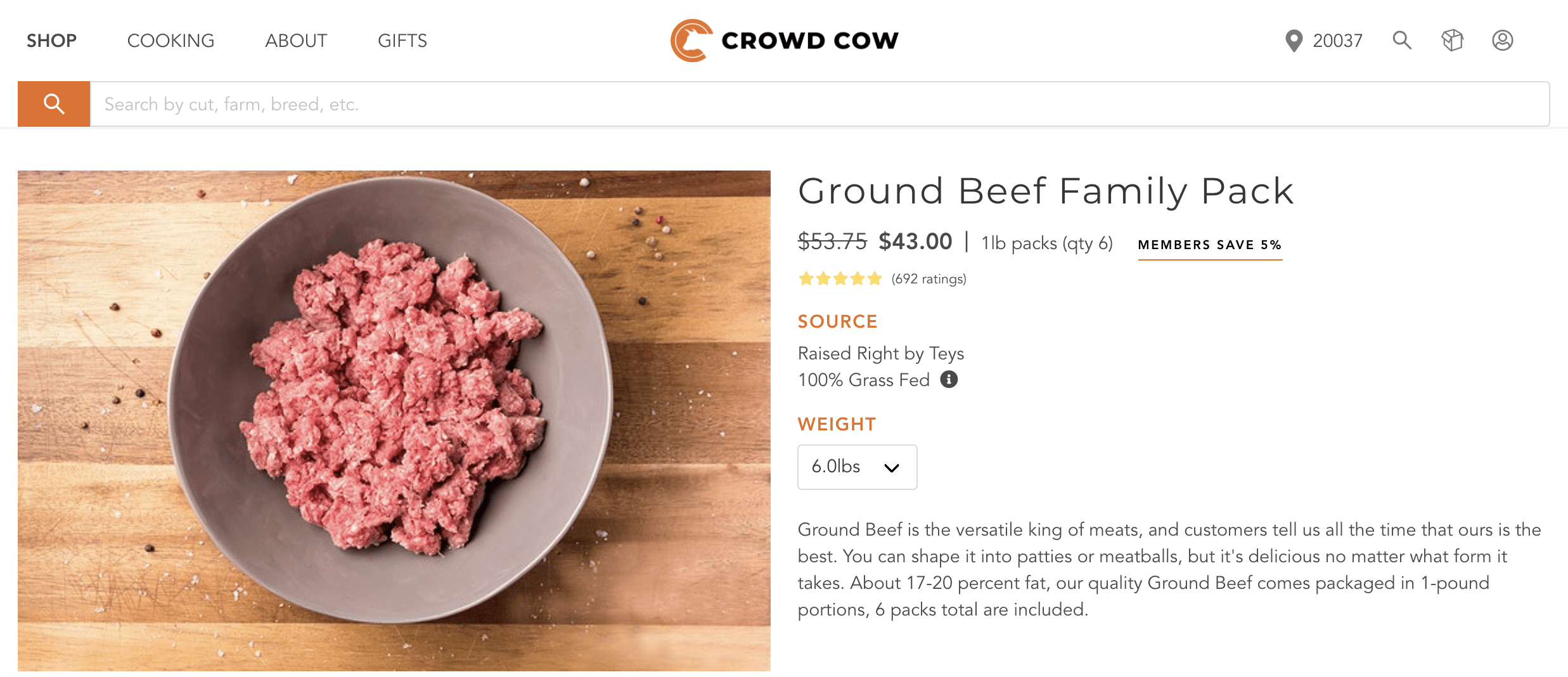 Crowd Cow Ground Beef Bulk Discount via Butcher Special