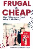 Pinterest Frugal vs. Cheap
